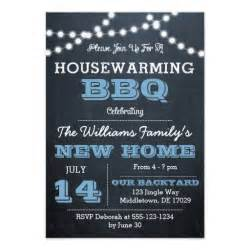 chalkboard lights blue housewarming invitations zazzle
