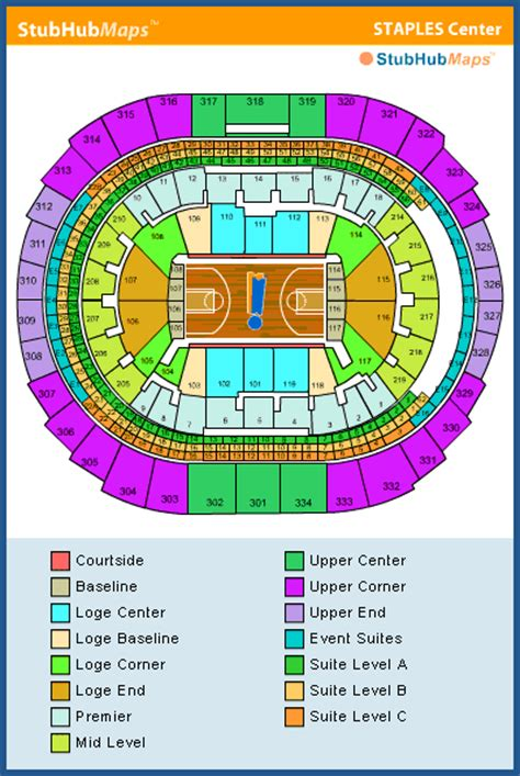 lakers courtside seat map staples center seating chart pictures directions and