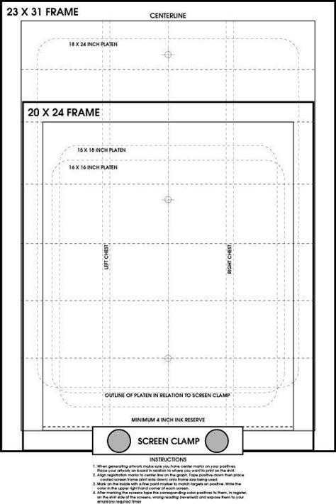 screen printing template industrial ink and graphic on