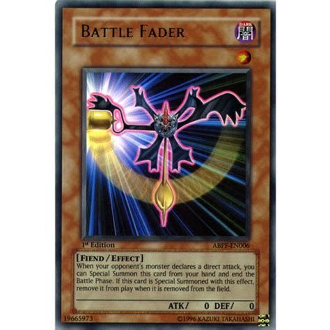 Battle Fader Dusa En080 Ultra 1st Edition battle fader abpf en006 1st edition yu gi oh card