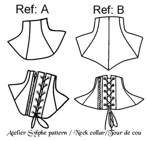 collar neck design pattern 2 neck collar patterns with back zipper and or back eyelet