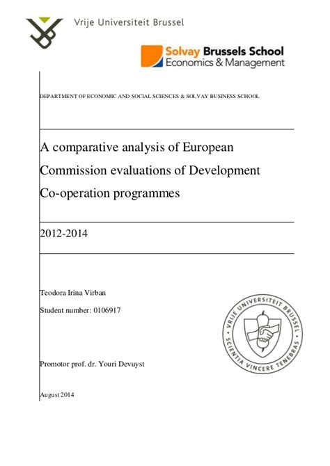 Department Of Business Economics Mba by Master Thesis Solvay Brussels School 2012 2014 Teodora
