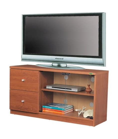 genova 1 drawer plasma tv zuari tv cabinet pluto natural teak finish buy zuari tv