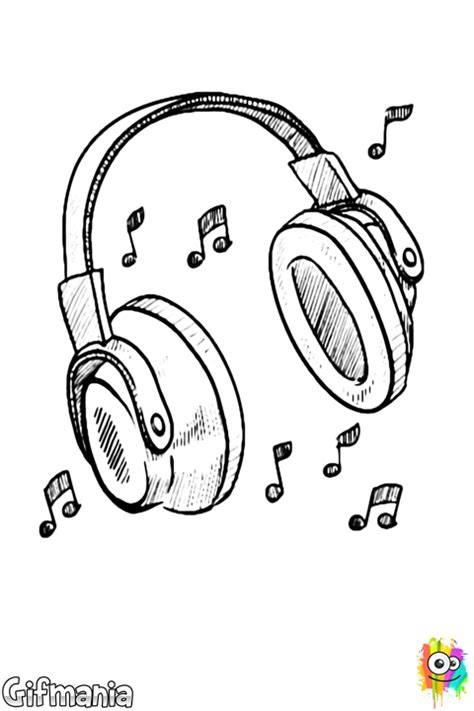 earphones coloring page headphones coloring page