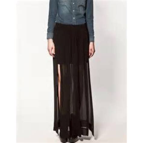 17 h m dresses skirts h m sheer maxi skirt from