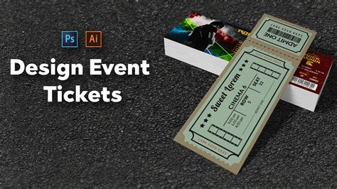 design event tickets photoshop how to design event tickets in photoshop and illustrator