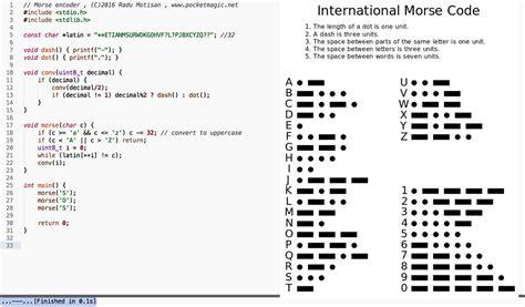 printing alphabet java encoder morse code converter in c stack overflow