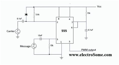generating pwm pulse width modulated wave using 555 timer ic