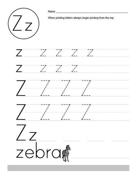printable worksheets letter z letter z worksheets for kindergarten printables letter
