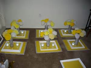 yellow and gray centerpieces grey and yellow wedding grey and yellow centerpieces