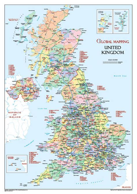 free printable uk road maps a3 size uk map gm