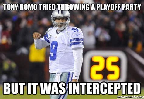 Tony Romo Meme - tony romo tried throwing a playoff party