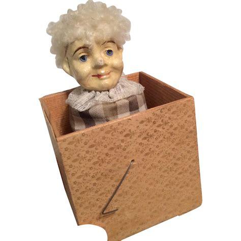 doll papier mache papier mache doll in the box antique from