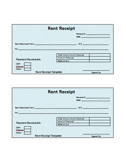 free rental invoice template 4 free rent receipt printable receipt