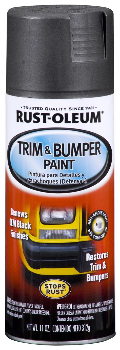 rust oleum paint trim and bumper enamel flat black aerosol 11 oz ea 251574 ebay