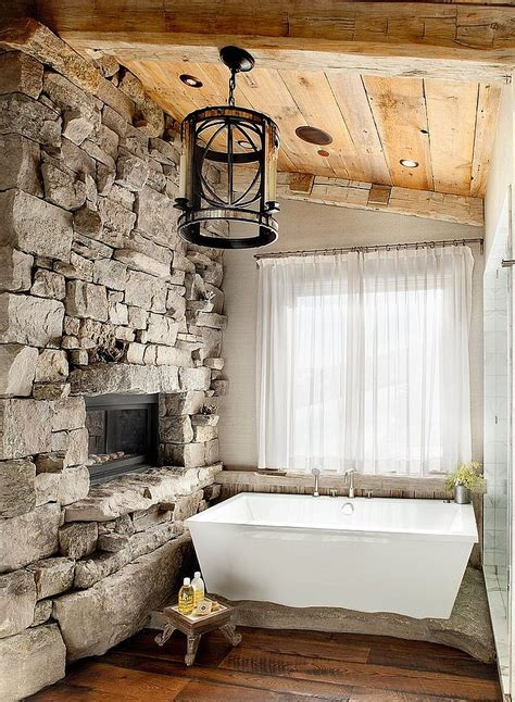lodge bathroom 30 exquisite inspired bathrooms with stone walls