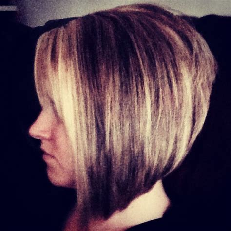 long in the front short in the back edgy haircut stacked bob hairstyles back view stacked angled bob