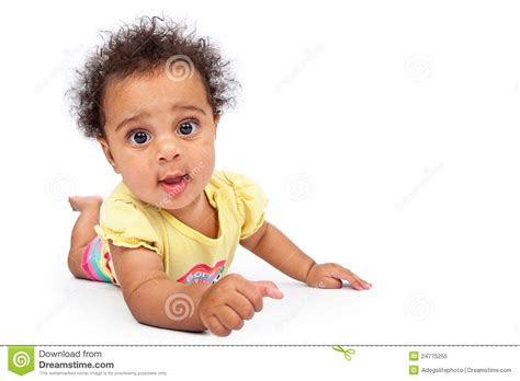Happy Baby Crawling happy baby crawling royalty free stock photo image 24775255