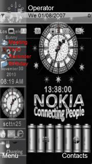 themes of moving clock for nokia 5230 download nokia dark clock nokia theme mobile toones