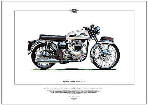 Norton Motorrad Ebay by Norton 650ss Dominator Motorrad Kunstdruck Featherbed