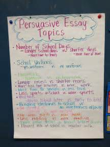 Topics For Argumentative Essays by Persuasive Essay Topics Teaching