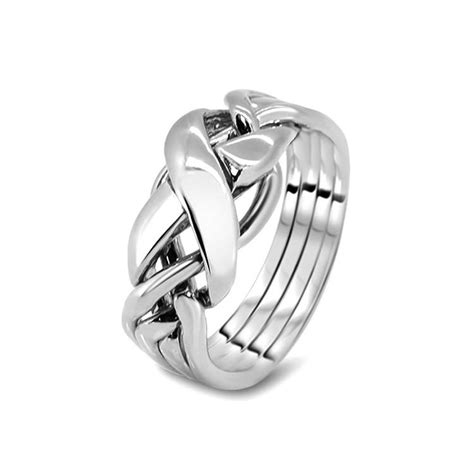 mens silver 4rx m puzzle rings creations