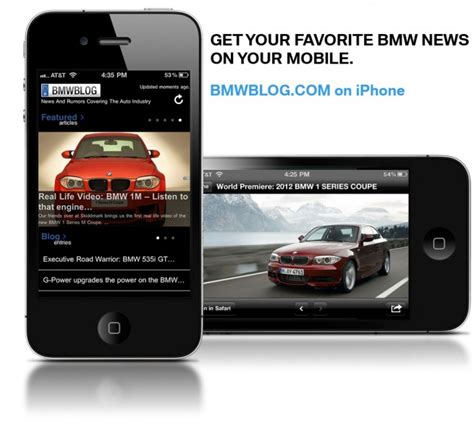 bmw apps iphone bmwblog iphone app now available for