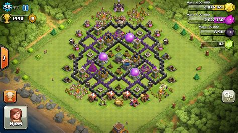 layout village clash of clans clash of clans tips town hall level 8 layouts part 2
