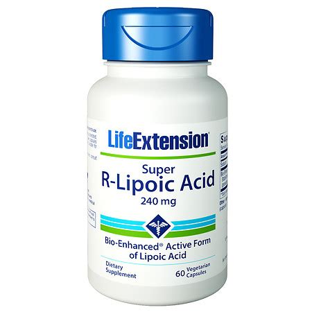 Alpha Lipoic Acid Brain Detox by Extension R Lipoic Acid 240mg Vegetarian
