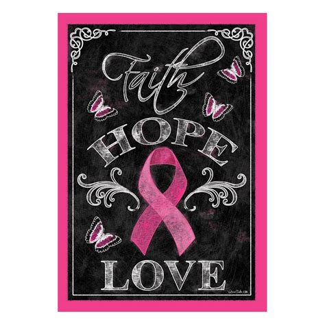 One More Pink Product For Breast Cancer Awareness Month by Breast Cancer Awareness Pink Ribbon Garden Flag