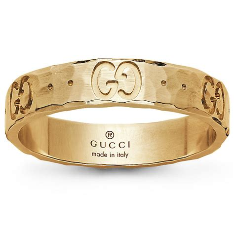 gucci 18ct yellow gold icon ring size o ernest jones