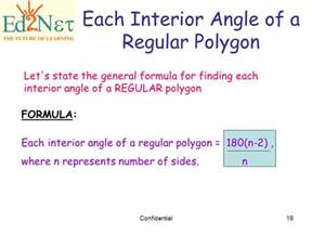 Interior Angle Formula by Our Lesson Polygons Confidential Ppt