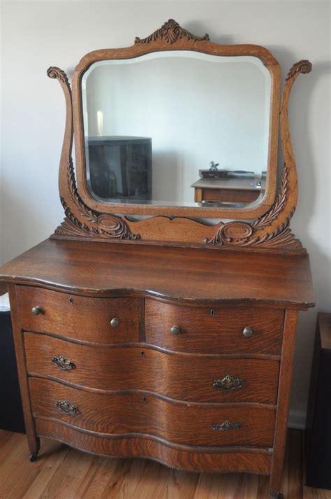 antique vintage oak dresser with mirror places to