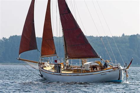 sailing boat wooden 1935 danish classic wooden double ender sail boat for sale