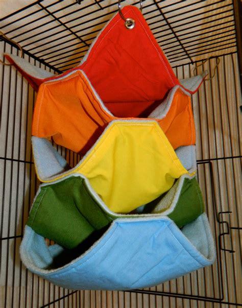 Fleece Hammock rainbow light blue fleece hammock for small animals rat chinchilla sugar glider ferret