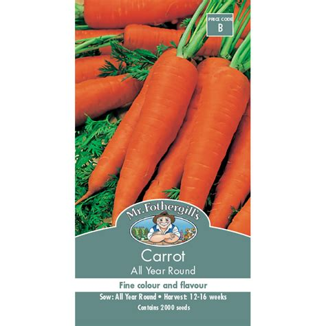 Mr Fothergills Best Of All mr fothergill s carrot all year seeds bunnings warehouse