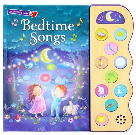 bed time song bedtime songs 10 button children s bedtime song book