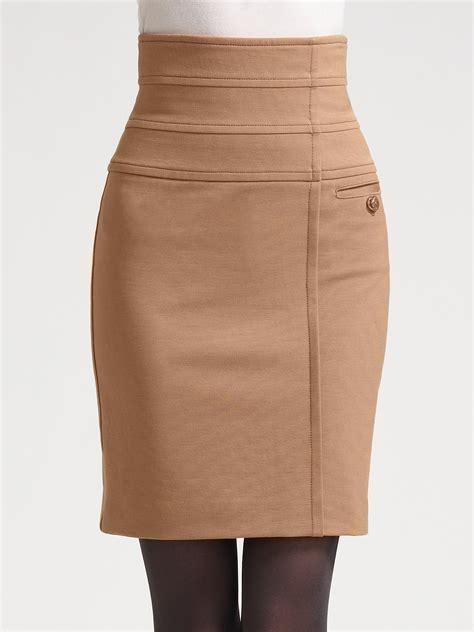 knit jersey skirt z spoke by zac posen jersey knit pencil skirt in beige