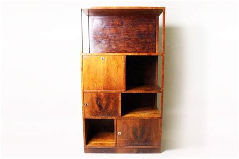 deco bookshelf with locking storage compartments c