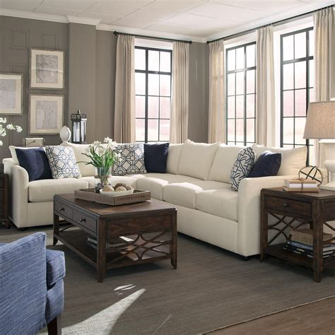 Sectional Sofa Atlanta Trisha Yearwood Home Collection By Klaussner Atlanta Transitional Sectional Sofa With Tuxedo