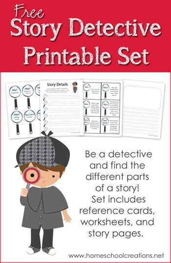 printable detective games story detective printable identifying parts of a story