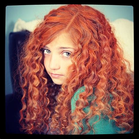 halloween hairstyles for curly hair get merida s fiery and curly red hair disney princess