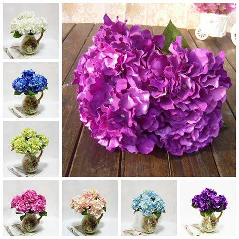 5 flower heads hydrangea artificial flower bouquet home