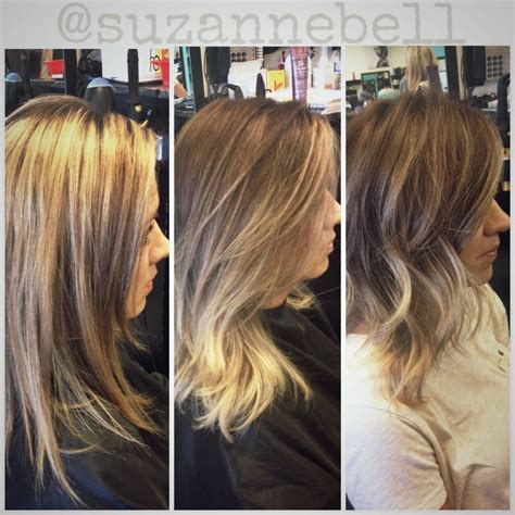 hairstyles after ombre before full high lights after soft ombre before