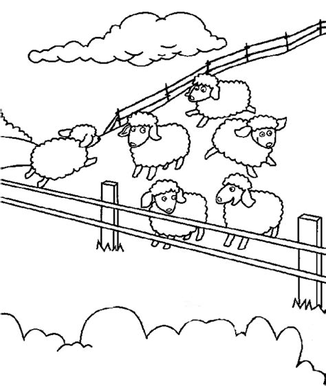 sheep herd coloring page free coloring pages of herd sheep