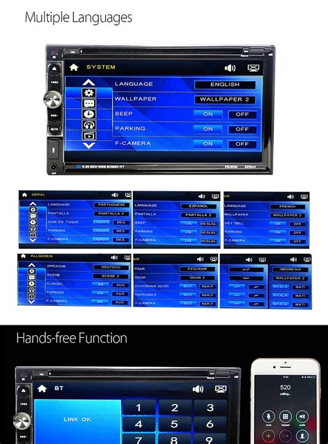 video format for dvd player in car f6065b 6 95 inch 2 din automobile audio stereo car dvd
