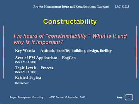 constructability report template constructability
