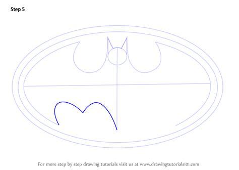 draw logo learn how to draw batman logo batman step by step