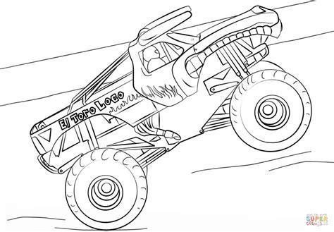 el toro loco monster truck coloring page  printable