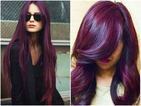 black plum hair color 60 burgundy hair color ideas maroon purple plum